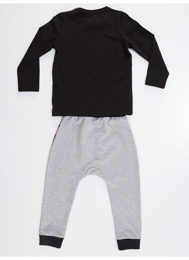 Denokids Kaplan Pençesi Erkek Çocuk Pantolon Takım Siyah